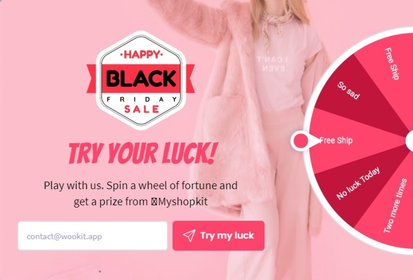 Win Wheel - Black Friday and Cyber Monday 4