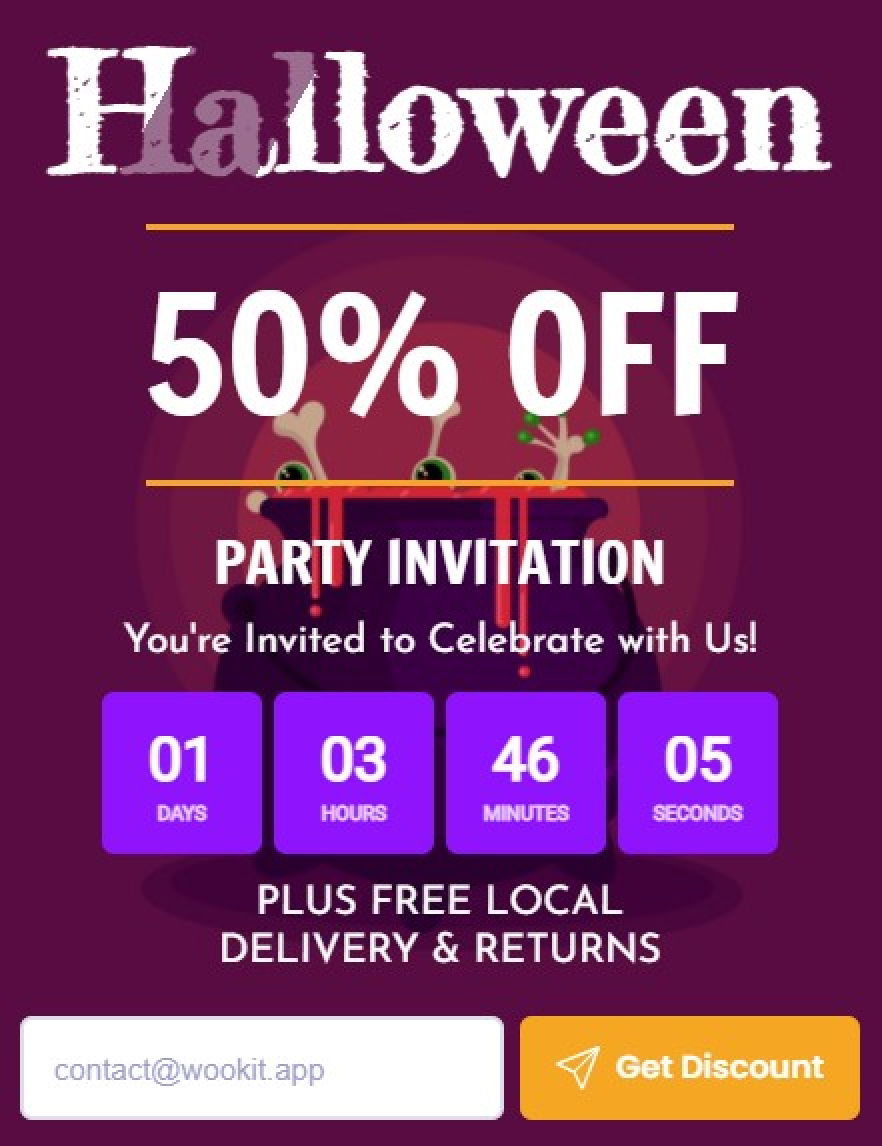 Halloween - Collect Emails With Amazing Popup