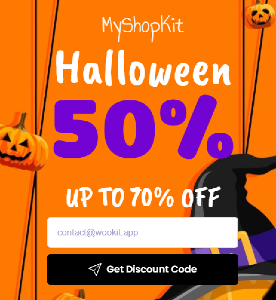 Halloween - Collect emails by sharing coupon 2