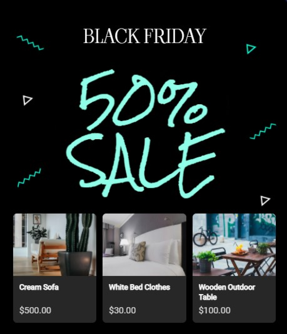 Black Friday Products Recommendation With Amazing Popup