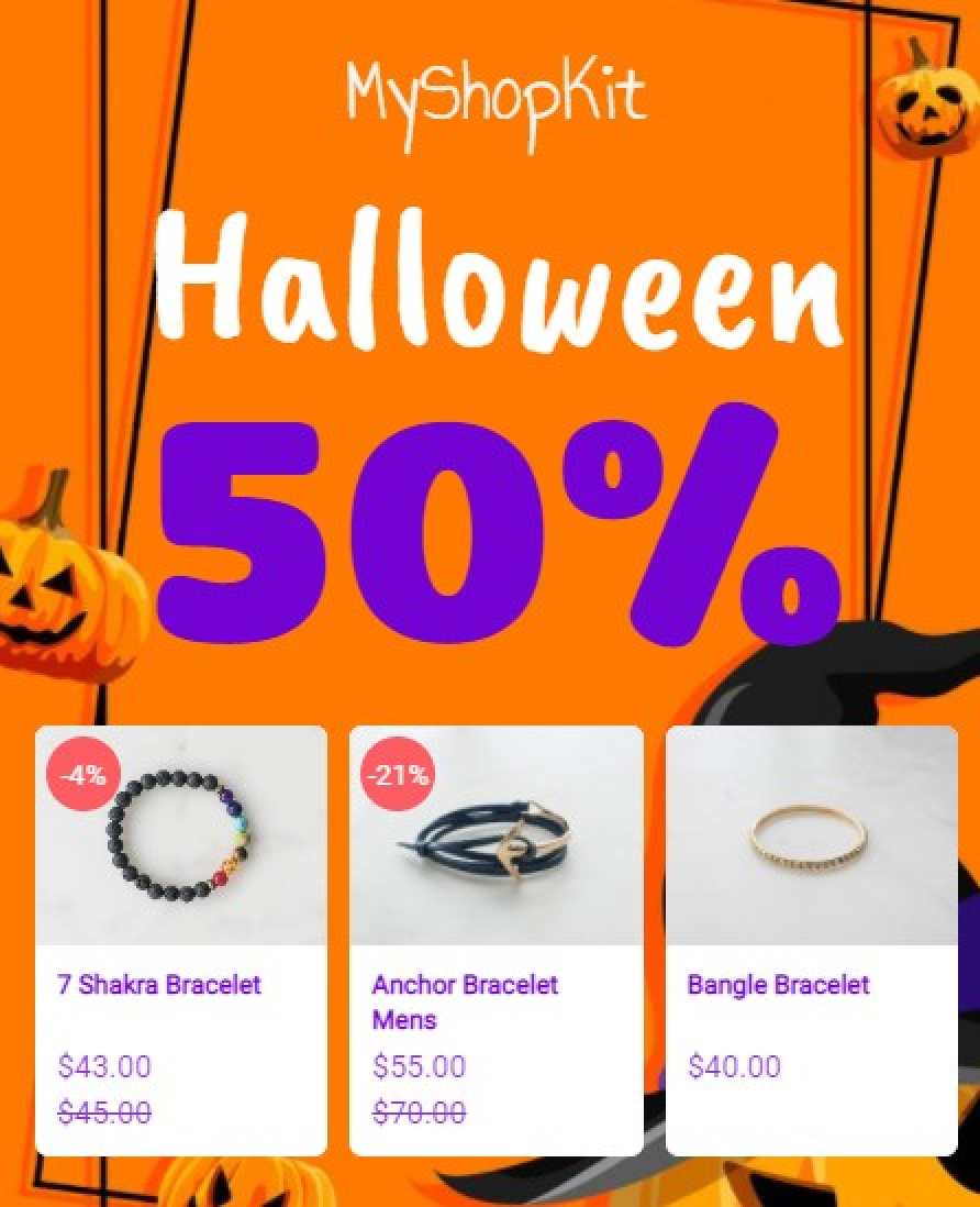 Halloween Products Recommendation With Amazing Popup
