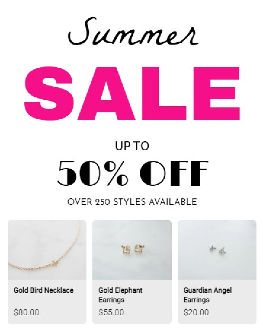 Summer Sales Products Recommendation With Amazing Popup
